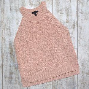 JCREW Chunky Knit Sweater Tank Top Pink SMALL